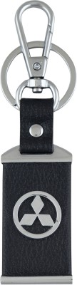 PARRK mitsubishi Leather Car logo Locking Key Chain