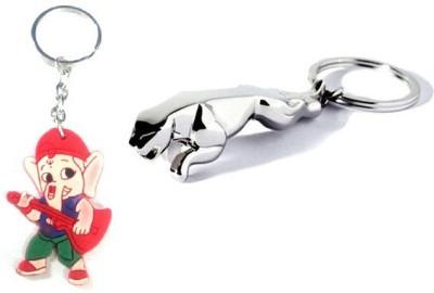 Ezone Jaguar With Combo Bal Ganesh Key Chain