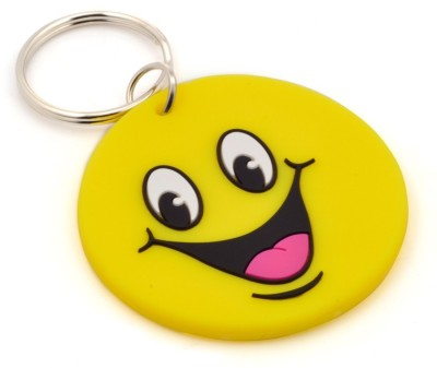 CTW Big Smiley Synthetic Rubber Key Chain