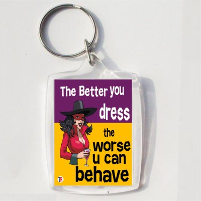 Thoughtroad BETTER U DRESS Key Chain