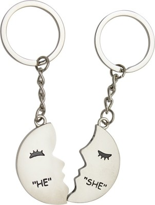 JLT Couple Love Face He And She Key Chain