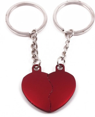 VeeVi Red Double Heart Key Chain