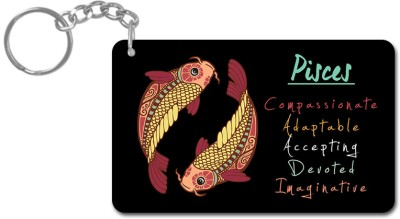 Lovely Collection Zodiac Sign Pisces Key Chain