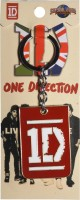 Oyedeal One Direction Metal Key Chain(Red)