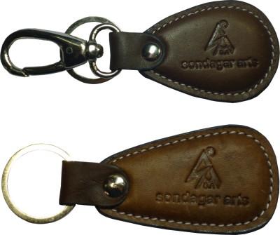 Sondagar Arts Exclusive Pure Leather Men's Locking Key Chain
