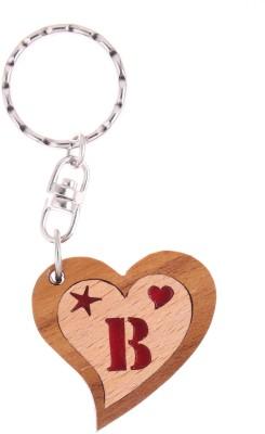 JM Alphabet B Heart Key Chain