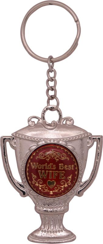 Oyedeal KYCN1014 World's Best Wife Trophy Metal Key Chain(Multicolor)