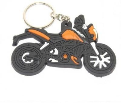 Accessory Bazar ABZR Duke Bike Shape Rubber Keychain Key Chain