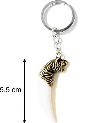 Tech Fashion Tiger White Tooth Immitation Locking Key Chain