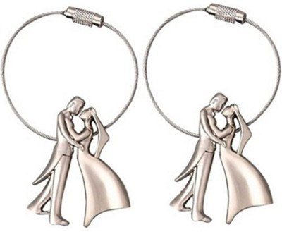 New Pinch Combo Of Romantic Couple Metal Key Chain