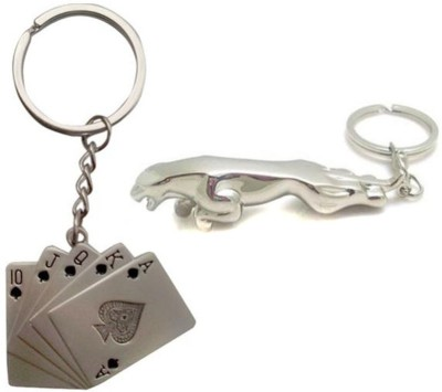 New Pinch Playing Cards And Jaguar Metal Key Chain
