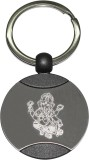 Bainsons Ganesh-In-Circle-Metal Key Chai...