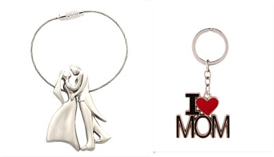 99DailyDeals R90 2 Romantic Couple and I Luv Mom Keychain Key Chain
