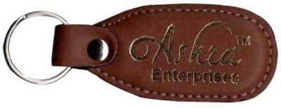 Ashra Entewrprises Ashra Brown Leather Key Chain Key Chain