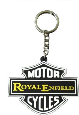 Techpro Harley style Yellow Royal Enfield Key Chain