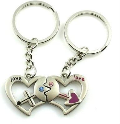 CTW Love Double Heart Magnetic Valentine Gift Key Chain