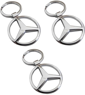 Onlinemart Mercedes Full Metal KeyRing (Pack of 3) Key Chain