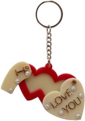 Rashi Traders Slide Photo Frame Love Heart Key Chain