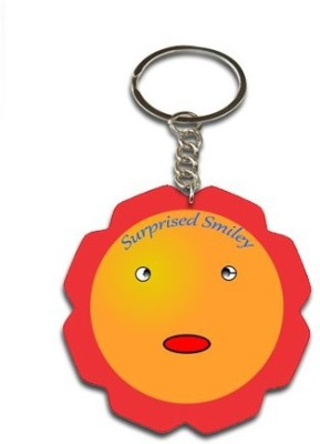 Onlineworld Smiley Face Flower Shape-06 Key Chain