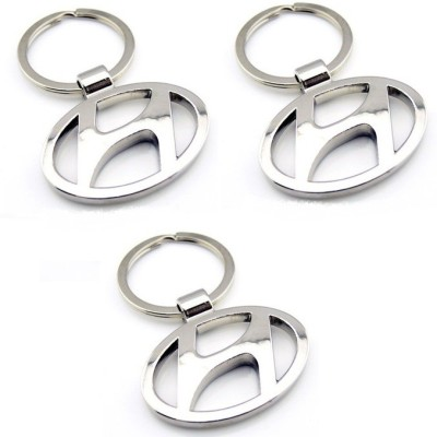 Onlinemart Hundai Full Metal KeyRing (Pack of 3) Key Chain
