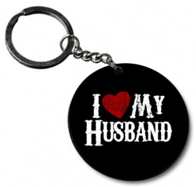 Shoppers Bucket Luv Husband Key Chain