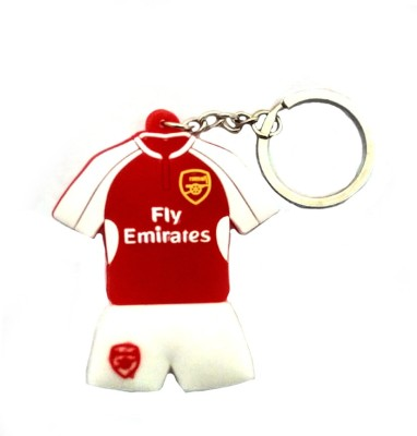 Techpro double sided Rubber with Arsenal jersey design Locking Key Chain