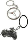 Alexus Mercedes And Bike Key Chain (Silv...