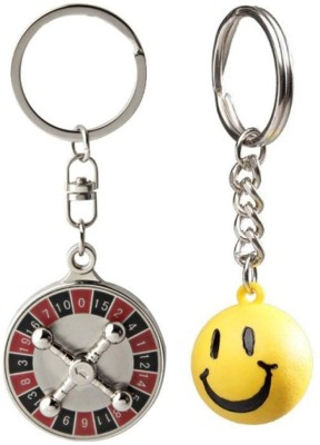 Confident MVP306 High Quality Metal Number Game Plate And Non Metal Smily Ball Key Chain