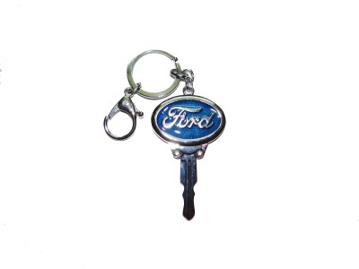 True Traders Blue Metal Ford Kechain Locking Key Chain