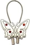 Silver Swan Butterfly Shape Metal Key Ch...