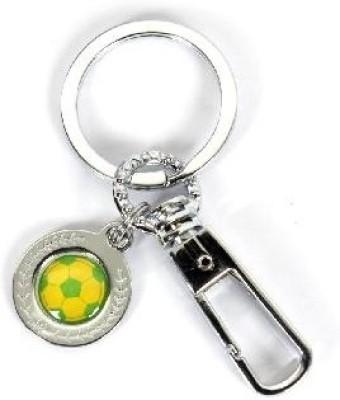 SkyWays Football Pattern in Green & Yellow Key Chain