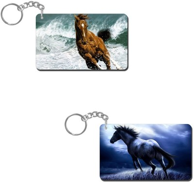 Lovely Collection Horse Water Ride Key Chain