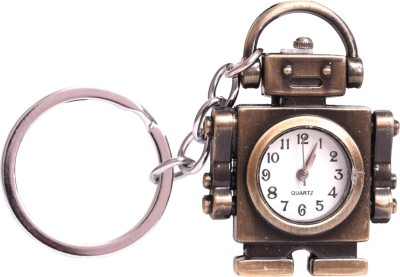 Oyedeal Designer Robot with Pocket Clock Key Chain