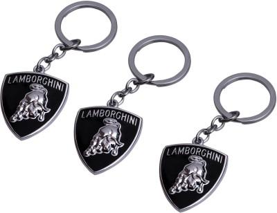 PARRK Combo Of 3 Lamborghini Logo Metal Key Chain