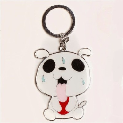 Daffodils Tounge Out Dog D145 Key Chain