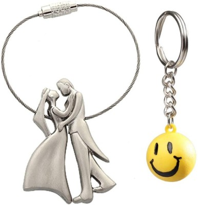 Confident Set Of 2 Standing Couples And Smily Key Chain