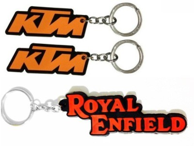 ABZR ABZR Combo Of KTM And Royal Enfield Rubber Key Chain Key Chain