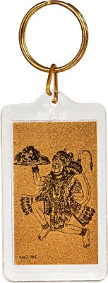 Siri Creations God Hanuman with 24kt Gold Foil Key Chain