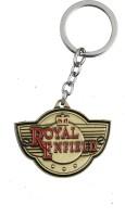 Tech Pro Metal Golden Colour Royal Key Chain(Multicolor)