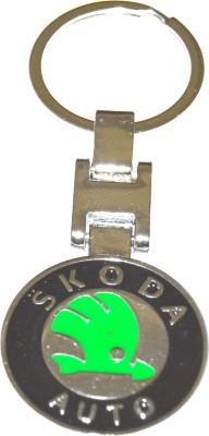 Tech FSahion Skoda Stunning Green Black Metal Keyring accessories for Car Bike House Office Key Holder Best Quality Gift-TF-468 Locking Key Chain