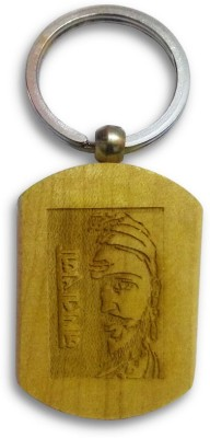 IndiSmack Wooden Janata Raja Shivaji Locking Key Chain