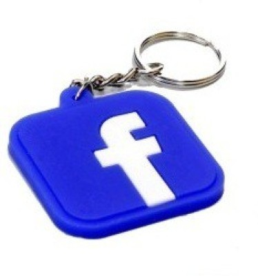Divinext Designer Facebook Logo Soft Rubber Key Chain