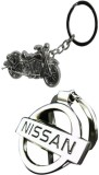 Alexus Bike And Nissan Key Chain (Silver...