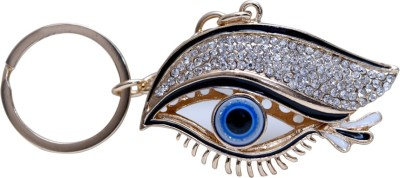 Oyedeal Studded Fengshui Evil Eye Metal Key Chain(Multicolor)