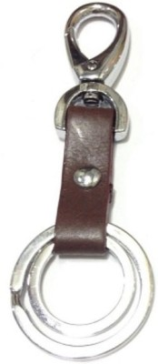 Aura Imported Leather & Metal Locking Carabiner