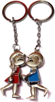 Aditya Traders 2pc. Magnetic Couple Loving,Kissing,Walking Keychain Key Chain