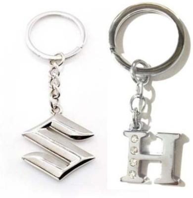 Rashi Traders Maruti Suzuki & Alphabet H Key Chain
