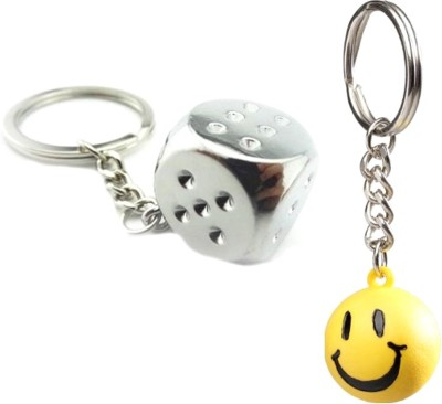 Confident Square Game And Smiley Key Chain