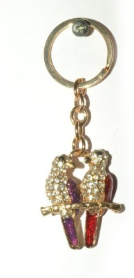 Odisha Bazaar Handbag Buckle Charms Accessories Purple Red Love Bird Key Chain