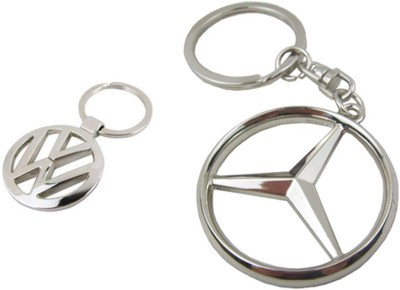 Homeproducts4u Volkswagen & Mercedes Logo Metal Keychain Pack of 2 Key Chain